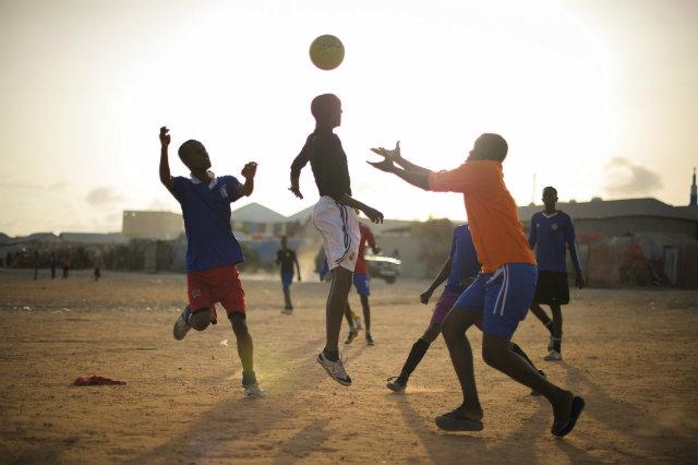 Teren de fotbal în Africa